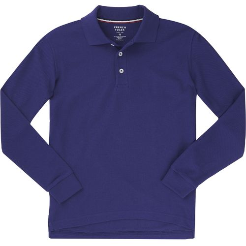 French Toast Boys' Long Sleeve Pique Polo Uniform Shirt
