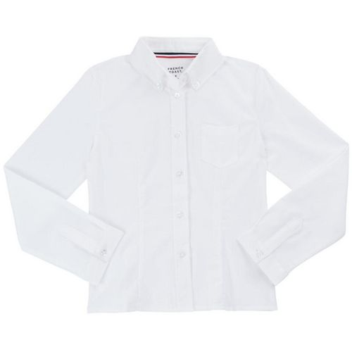 French Toast Girls' Long Sleeve Oxford Uniform Blouse with Darts