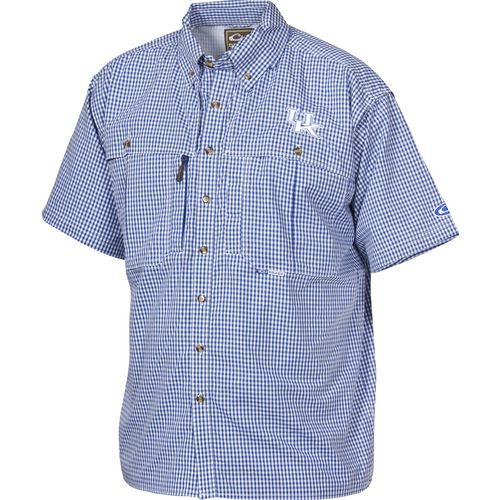 Drake Waterfowl Men's University of Kentucky Gameday Wingshooter's Short Sleeve Button-Down