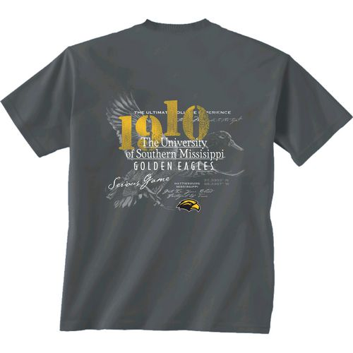 New World Graphics Men's University of Southern Mississippi In Flight T-shirt