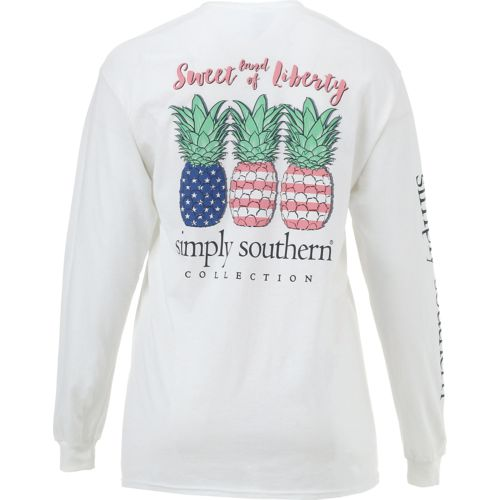 Simply Southern Women's Long Sleeve Pineapple T-shirt