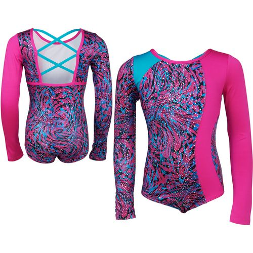 Capezio Girls' Future Star Asymmetrical Pieced Long Sleeve Leotard