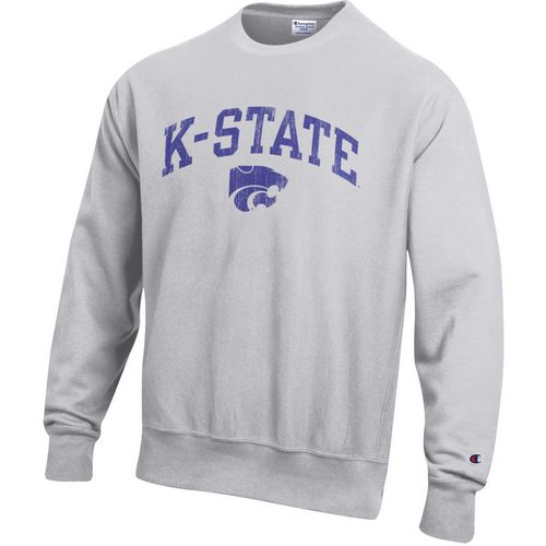 Champion Men's Kansas State University Reverse Weave Crew Sweatshirt