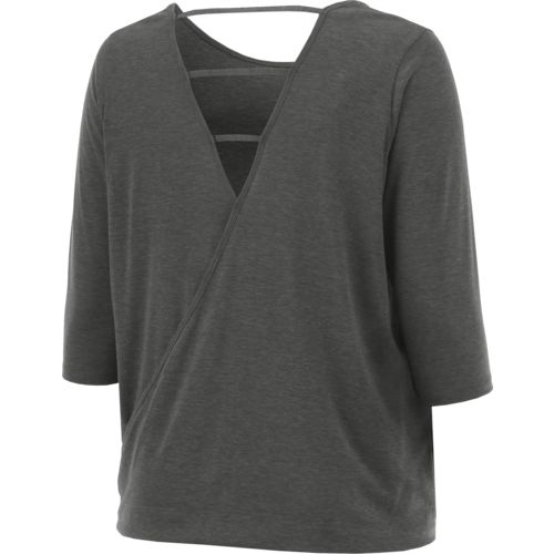 BCG Women's Strappy Back Plus Size 3/4 Sleeve T-shirt - view number 2
