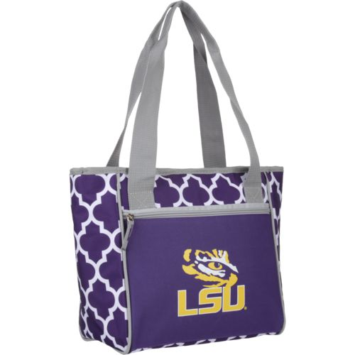 Logo Louisiana State University Quatrefoil 16-Can Cooler Tote - view number 2