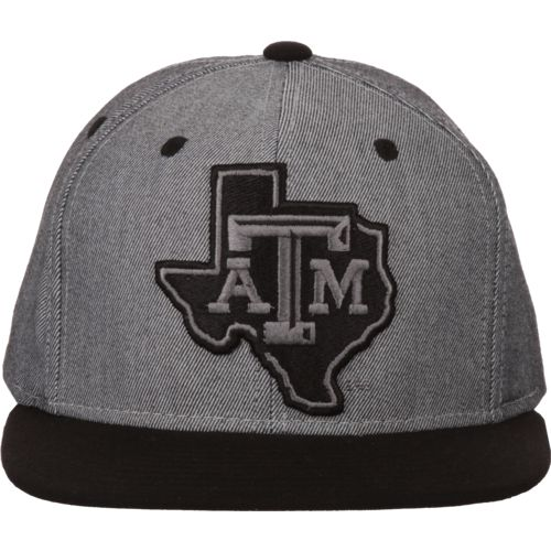 adidas Men's Texas A&M University 2-Tone Tonal Flat-Brim Snapback Cap - view number 1