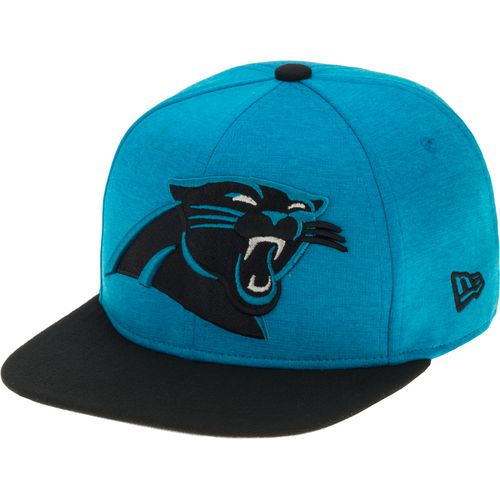 New Era Men's Carolina Panthers Heather Huge Snapback 9FIFTY Cap - view number 2