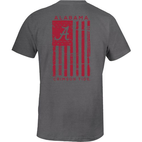 Image One Men's University of Alabama Comfort Color Distressed Flag T-shirt - view number 1