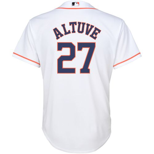 MLB Boys' Houston Astros Jose Altuve 27 COOL BASE Home Replica Jersey