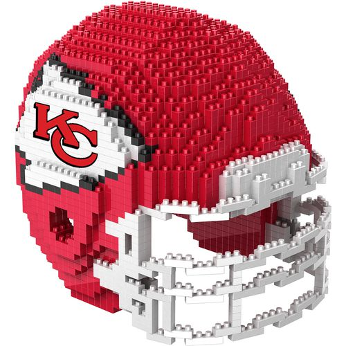 Forever Collectibles Kansas City Chiefs BRXLZ 3-D Mini Helmet Puzzle