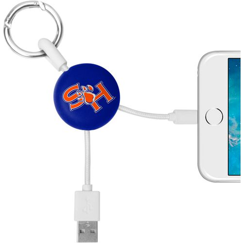 Mizco Sam Houston State University Lightening Phone Charger Keychain Cable