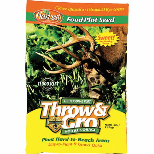 Display product reviews for Evolved Habitats Throw & Gro No-Till Forage 5 lb. Feed Plot Seed