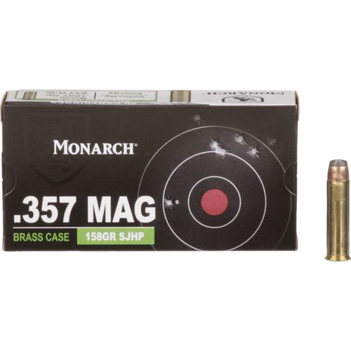 Monarch® SJHP .357 Magnum 158-Grain Pistol Ammunition