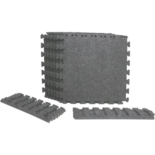 Venture Products Shock Athletic Interlocking Carpet Tiles 6-Pack
