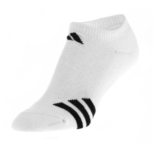 adidas Youth Striped No Show Socks 3-Pack
