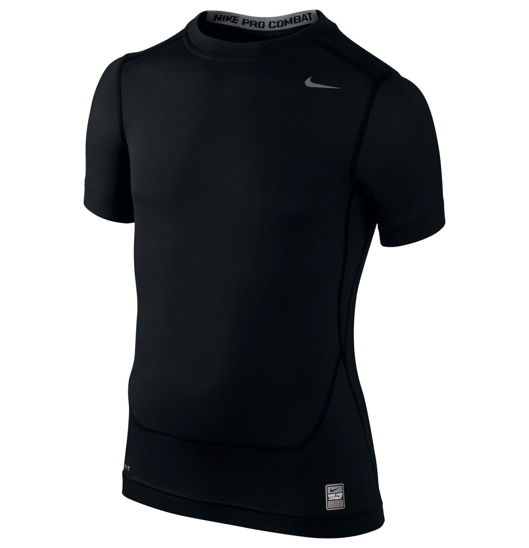 Nike Boys 39 Pro Combat Core Compression Short Sleeve T