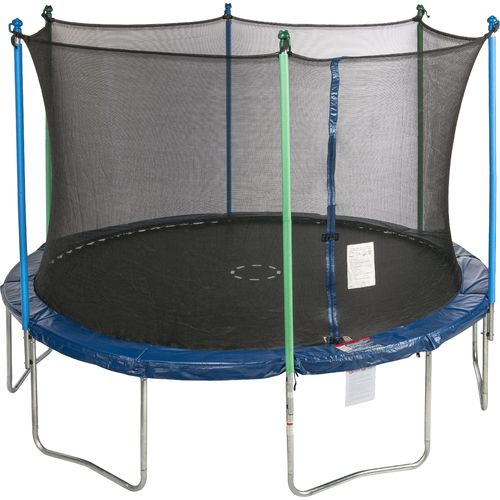 Jump Zone 12 Ft Round Trampoline With Enclosure Academy