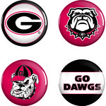 WinCraft University of Georgia Buttons 4-Pack