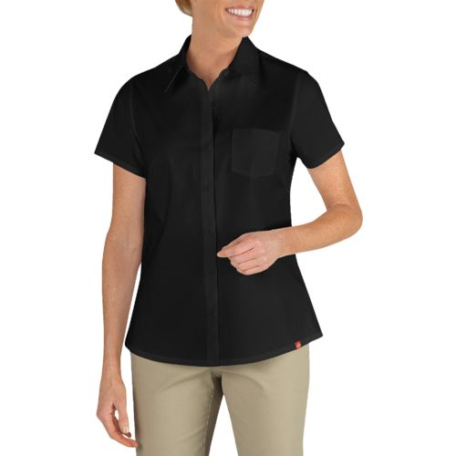 Display product reviews for Dickies Women's Short Sleeve Stretch Poplin Shirt
