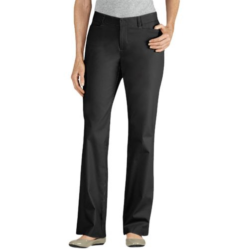 Dickies Women's Curvy Fit Straight Leg Stretch Twill Pant