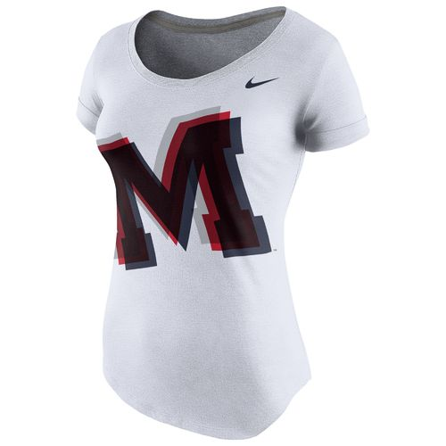 Nike™ Women's University of Mississippi Logo Scoop Triblend T-shirt