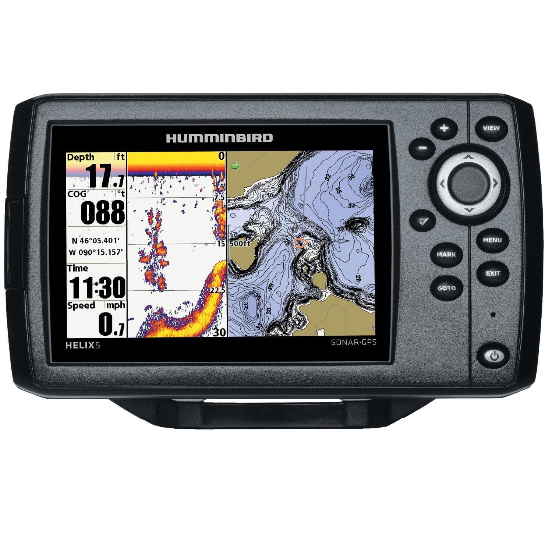 humminbird helix 5 sonar gps fishfinder academy