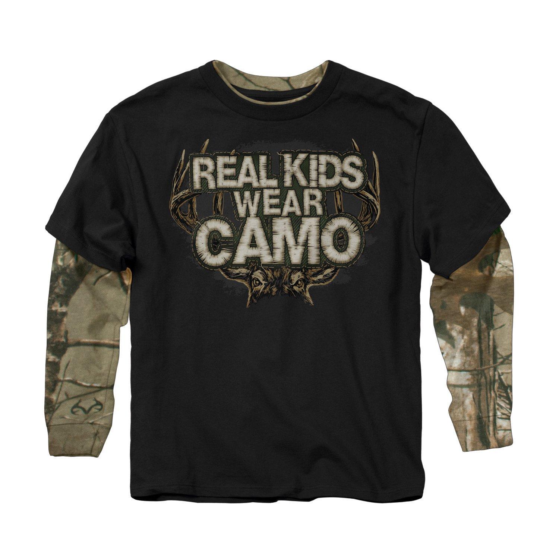 Buck Wear Boys' Real Kids Camo 2-Fer Long
