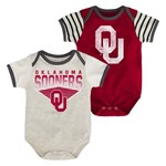 Genuine Stuff Infants' University of Oklahoma Team Pride Onesies 2-Pack