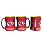 Boelter Brands Kansas City Chiefs 14 oz. Relief-Style Coffee Mug