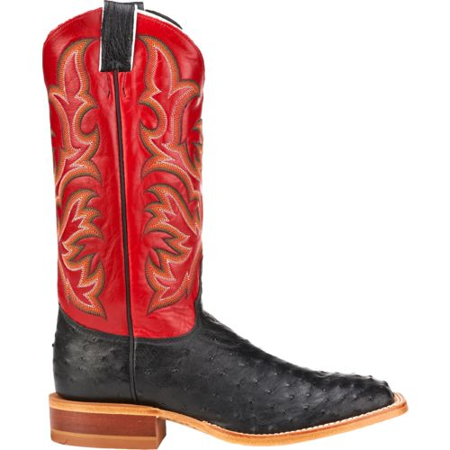 Justin Men's Full Quill Ostrich AQHA Remuda Western Boots