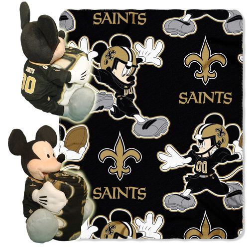 The Northwest Company New Orleans Saints Mickey Mouse Hugger and Fleece Throw Set