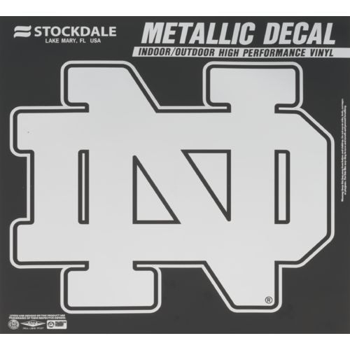 Stockdale University of Notre Dame Metallic Decal