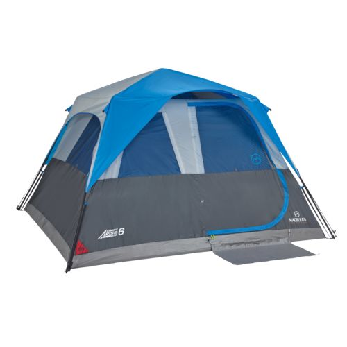 Display product reviews for Magellan Outdoors SwiftRise 6 Instant Cabin Tent