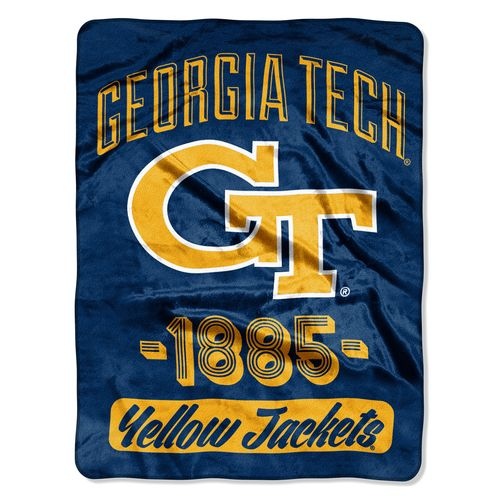 The Northwest Company Georgia Tech Varsity Micro Raschel Throw