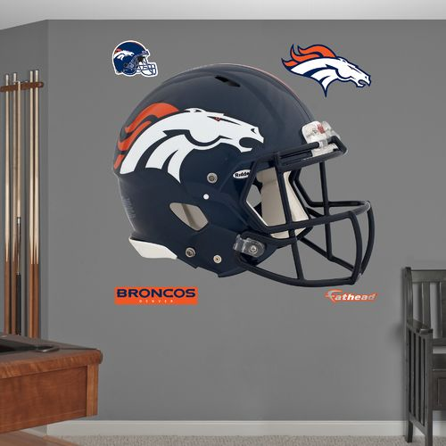 Fathead Denver Broncos Real Big Helmet Decal - view number 2