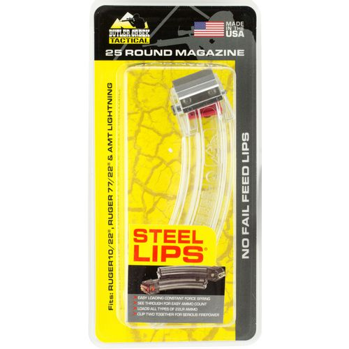 Butler Creek Steel Lips Ruger 10/22 .22 Long Rifle 25-Round Banana Replacement Magazine