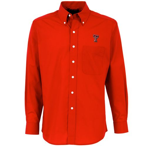 Antigua Men's Texas Tech University Dynasty Long Sleeve Button Down Shirt