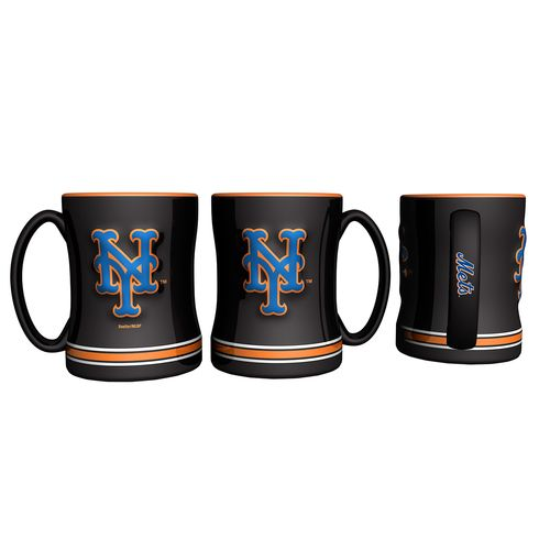 Boelter Brands New York Mets 14 oz. Relief Coffee Mugs 2-Pack