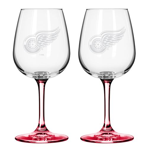 Boelter Brands Detroit Red Wings 12 oz. Wine Glasses 2-Pack