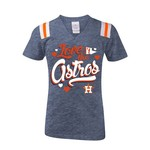 5th & Ocean Clothing Girls' Houston Astros Trinatural T-shirt