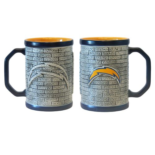 Boelter Brands San Diego Chargers Stone Wall 15 oz. Coffee Mugs 2-Pack