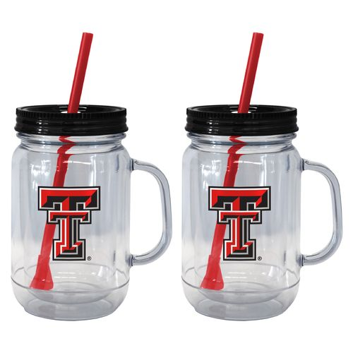 Boelter Brands Texas Tech University 20 oz. Handled Straw Tumblers 2-Pack