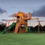 Backyard Discovery™ Skyfort II Wooden Swing Set - view number 3