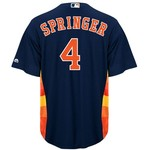 Majestic Men's Houston Astros George Springer #4 Replica Jersey