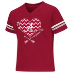 Colosseum Athletics Girls' University of Alabama Football Fan T-shirt