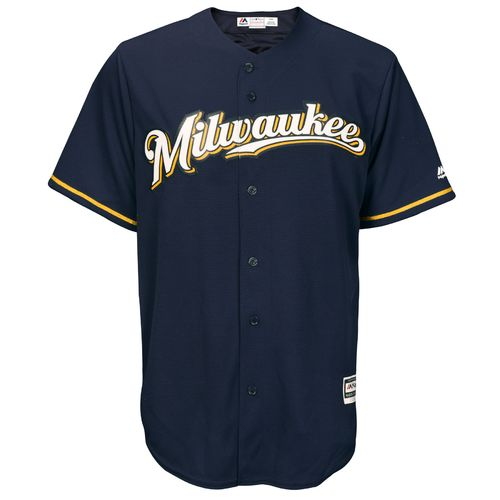Majestic Men's Milwaukee Brewers Cool Base Replica Jersey - view number 1