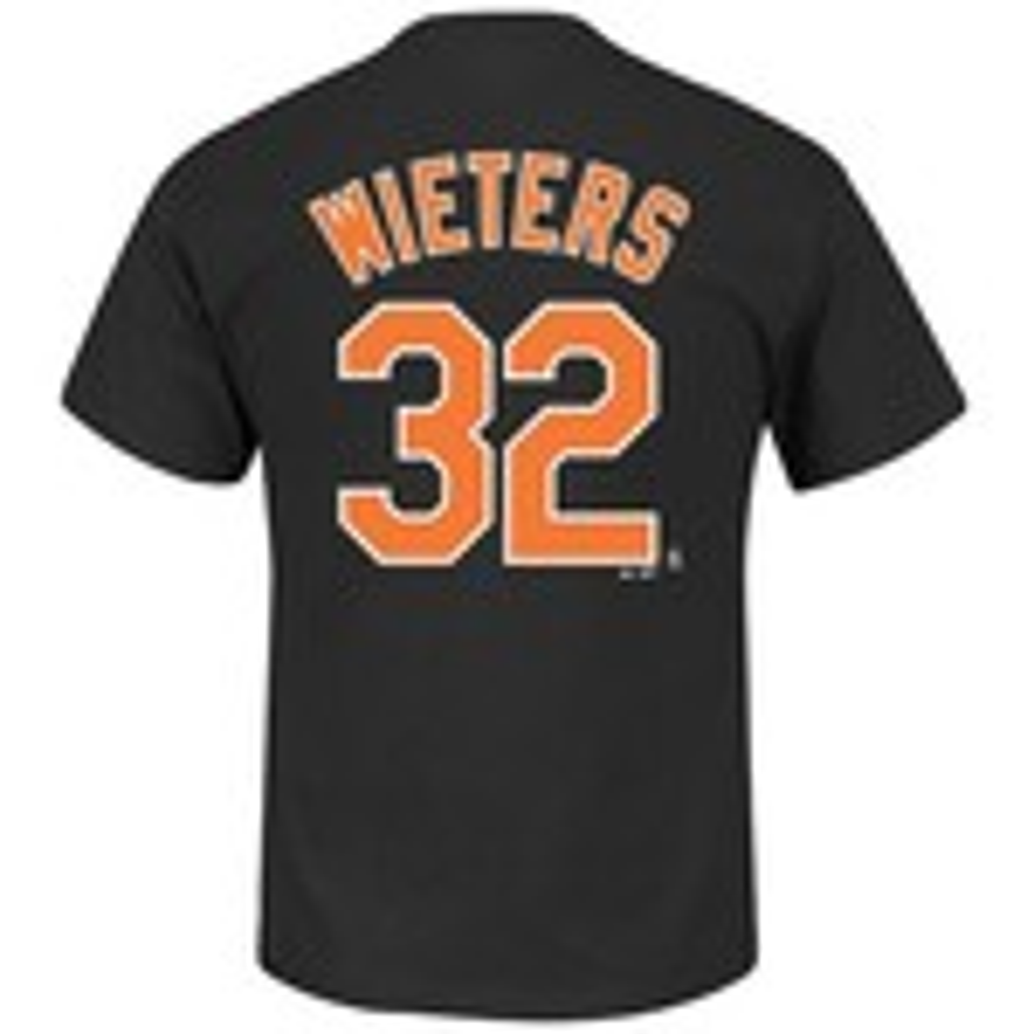 Majestic Men's Baltimore Orioles Matt Wieters #32 Wordmark T-shirt