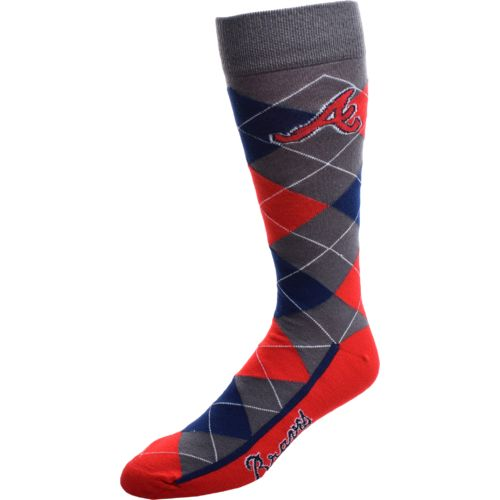 FBF Originals Men's Atlanta Braves Argyle Zoom Dress Socks