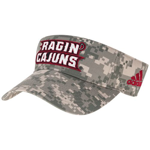 adidas™ Men's University of Louisiana at Lafayette Digital Camo Visor
