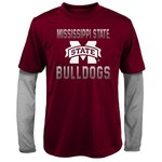 Gen2 Kids' Mississippi State University Bleachers Double Layer Long Sleeve T-shirt